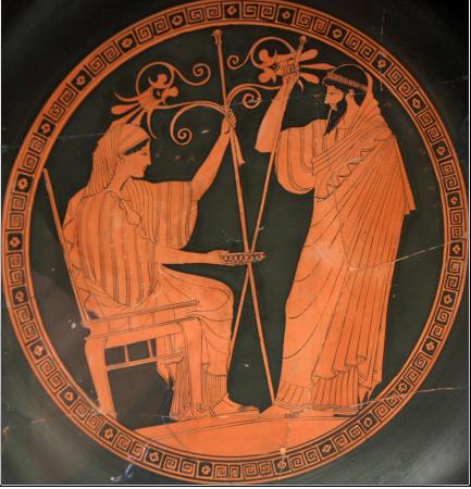 הרה ופרומתאוס ציור על כד יווני 480-490 לפני הספירה